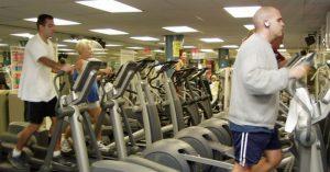 workout using stationary bikes