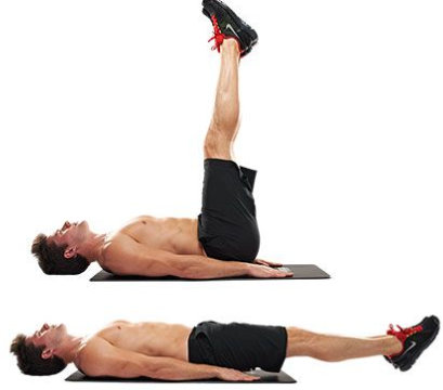 LEG ELEVATIONS FOR LOWER ABDOMINALS