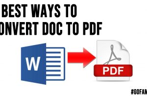 3 Best Ways to Convert DOC to PDF
